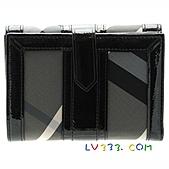 BURBERRY包/圍巾/皮夾:【LV超3A】BURBERRY 格紋中夾-灰藍 (3).jpg