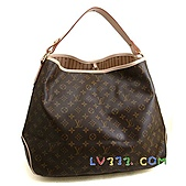 LV2010年新款包包:【LV超3A】Louis Vuitton 2010秋冬M40354 Delightful Monogram GM 單肩帶拉鍊暗袋肩背包(大)(可放A4) (3).jpg