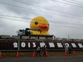 新屋地景藝術節-黃色小鴨:2013/10/24 黃色小鴨充氣完成