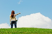 清境農場*合歡山:藍天白雲綠地~ 很舒服^^