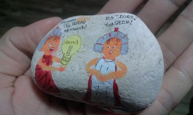 彩繪石頭 Rock Paintings:Day 15-Ides of March 三月十五號.jpg
