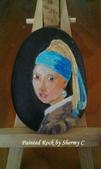 彩繪石頭 Rock Paintings:The Girl with the Pearl Earring.jpg