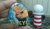 彩繪石頭 Rock Paintings:Day 26-Popeye 卜派.jpg