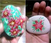 彩繪石頭 Rock Paintings:Poinsettia.jpg