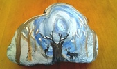 彩繪石頭 Rock Paintings:Day 30 Winter Wonderland.jpg