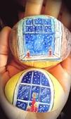 彩繪石頭 Rock Paintings:Candle in window.jpg