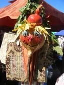 西澳。Balingup:3 這是用葫蘆做成的稻草人頭,很有創意.jpg
