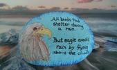彩繪石頭 Rock Paintings:Day 20-Bald Eagle.jpg