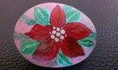 彩繪石頭 Rock Paintings:Day 12-Poinsettia.jpg