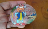 彩繪石頭 Rock Paintings:Day 24-Monkeys.jpg
