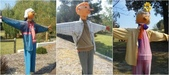 西澳。Balingup:6 基本款稻草人,香菸鼻,最右邊的奶奶例外(聽說沒抽菸會胖,稻草人奶奶的肚子可以說明這一點 XD).jpg
