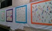 Art Night:13. 四個班級各自做了一個手繪桌巾,將進行現場拍賣.jpg