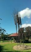 2018 西澳野花季:12 Cecil Newton Park裡用鐵柱做成的大比例稻麥.jpg