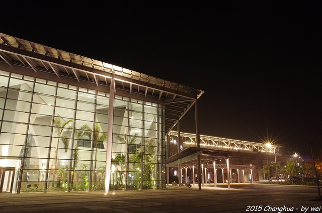 R0022332.JPG - 夜幕。高鐵彰化站