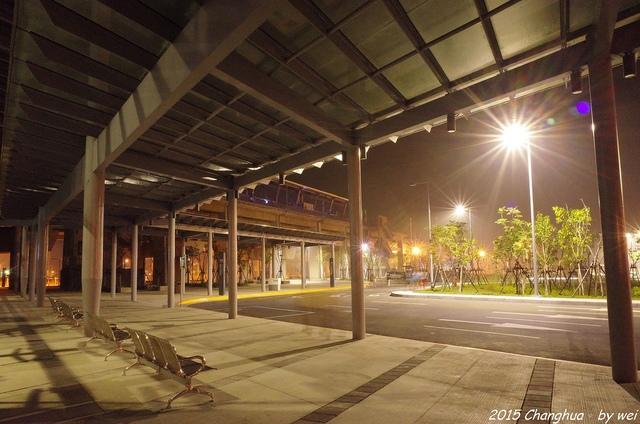 R0022346.JPG - 夜幕。高鐵彰化站