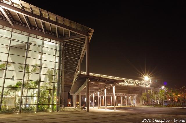 R0022329.JPG - 夜幕。高鐵彰化站
