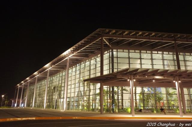 R0022320.JPG - 夜幕。高鐵彰化站