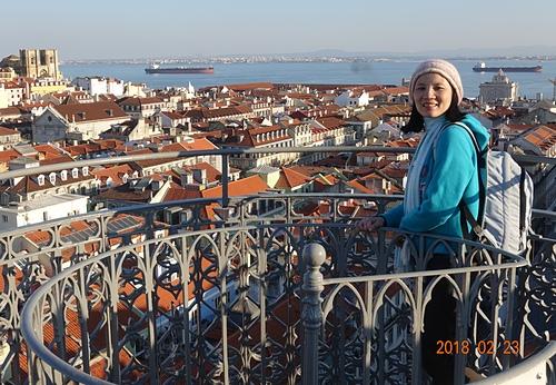 里斯本聖胡斯塔升降機觀景台看美麗城市景觀.JPG - 201802葡萄牙藍瓷10天