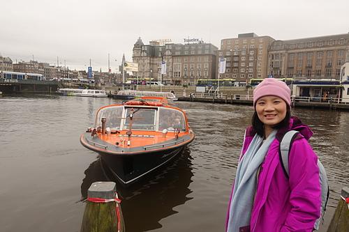 阿姆斯特丹運河遊船愛之船出航.JPG - 201702荷比冰之旅