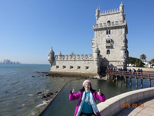 里斯本貝倫塔摩爾風格裝飾宛如中世紀城堡.JPG - 201802葡萄牙藍瓷10天