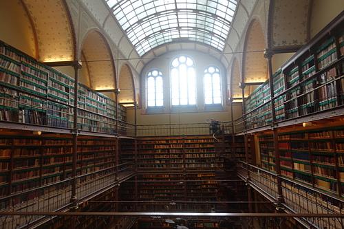 阿姆斯特丹國家博物館藝術史圖書館Cuypers Library 好像古時代魔法書的場景.JPG - 201702荷比冰之旅