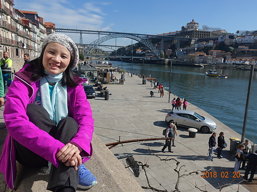 波多蕾貝拉看杜羅河畔的鐵橋和平修道院.JPG - 201802葡萄牙藍瓷10天