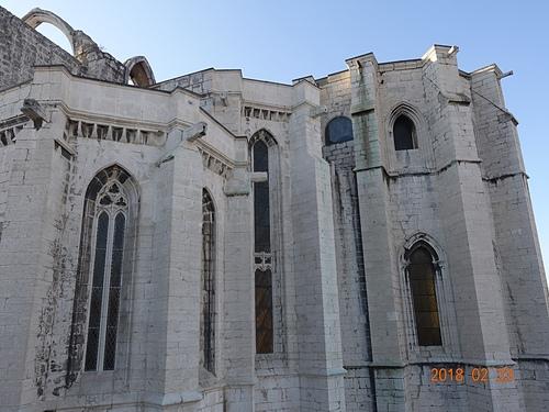 里斯本卡爾莫修道院哥德式教堂的廢墟.JPG - 201802葡萄牙藍瓷10天