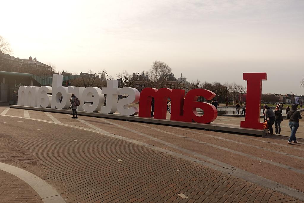 201702荷比冰之旅:阿姆斯特丹國家博物館前城市地標知名的 I am sterdam 字樣.JPG