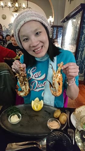 里斯本美味晚餐Leao d'Ouro火烤小龍蝦.JPG - 201802葡萄牙藍瓷10天