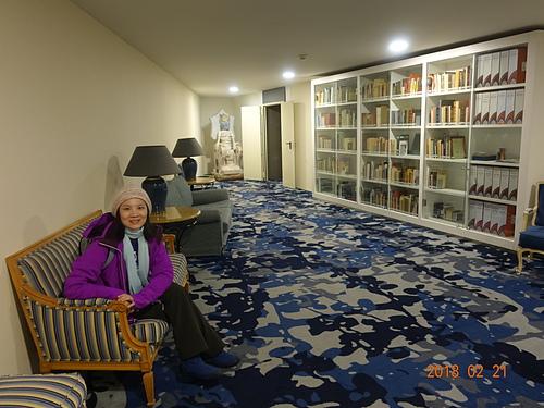 科英布拉淚珠莊園飯店圖書館.JPG - 201802葡萄牙藍瓷10天