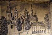 201702荷比冰之旅:馬斯垂克聖彼得堡洞穴描繪馬斯垂克市集廣場教堂景致.JPG