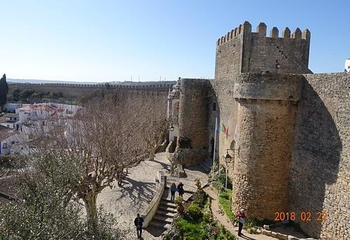 歐比多斯城堡與高牆.JPG - 201802葡萄牙藍瓷10天