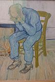 201702荷比冰之旅:庫勒慕勒美術館梵谷作品傷心的老人.JPG