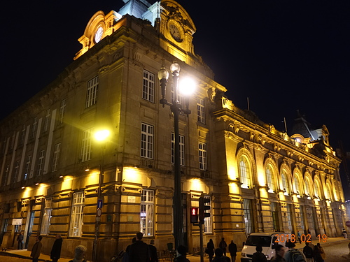 波多聖本篤車站夜景.JPG - 201802葡萄牙藍瓷10天