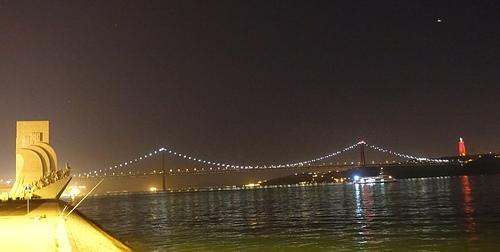 里斯本4月25日大橋夜景.JPG - 201802葡萄牙藍瓷10天