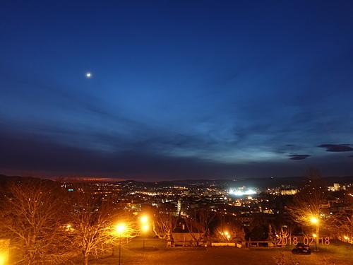 吉馬良斯Pousada Mosteiro de Guimaraes俯瞰城鎮夜景.JPG - 201802葡萄牙藍瓷10天