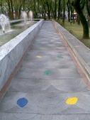 971220我在仁愛路公園:彩色的葉子拓印
