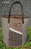 拼布包:六角手提袋