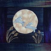 壁飾&拼被:月兔